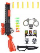 Politi-lejetøjsvåben i plast