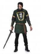 Grønt og guld ridderkostume til mænd