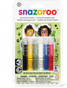 6 Sminkestifter I bassis farver - Snazaroo™