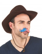 Overskæg amerikansk fan voksen
