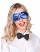Halvmaske metallisk blå voksne
