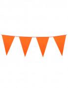 Guirlande med orange vimpler 10 m