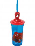 Blåt Spiderman krus med sugerør - Spiderman™