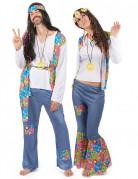 Parkostume hippie med farver til voksne