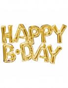 Happy Birthday - Guldfarvet bogstavsballon