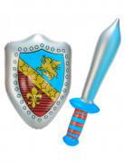 Oppusteligt sværd og skjold