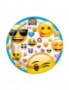8 paptallerkener Emoji™ 17,5 cm