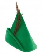 Grøn hat med fjer