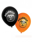 20 balloner orange og sorte græskar Halloween
