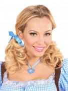 Halskæde hjerte tyroler blå til kvinder Oktoberfest