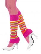 Benvarmere stribede lyserøde og multifarvede til kvinder