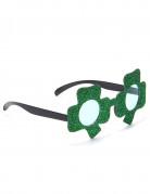 Briller med pailletter og firkløvere til Skt. Patricks dag