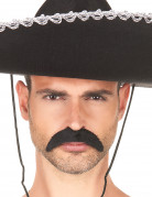 Sort mexicaner moustache til voksne