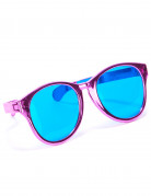Lyserøde gigantiske briller til voksne