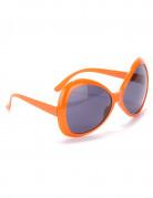 Orangefarvede disko-briller til voksne