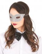 Venetiansk maske sølvpailletter til voksne
