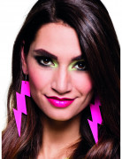 Ørenringe lys neon pink til voksne