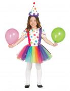 Kostume klovn med prikker og balletskørt til piger