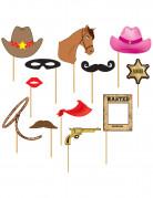 Photobooth kit cowboy 12 stk