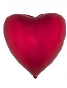 Ballon aluminium hjerte rødt 45 cm