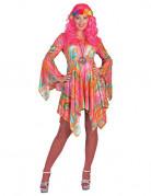Lyserød hippie - udklædning voksen