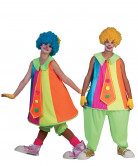 Kostume klovn neonfarver til voksne