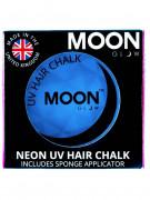 Creme hår striber neon blå UV 3,5 g Moonglow