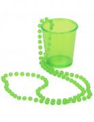 Halskæde med shot-glas og grønne perler Saint-Patrick