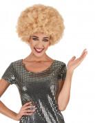 Paryk krøllet disco blond komfort til voksne