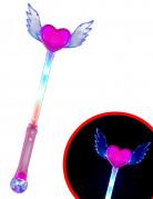 Magisk tryllestav med hjerte og vinger
