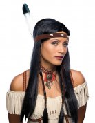 Lang indianer paryk