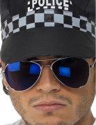 Politi briller mørkeblå til voksne