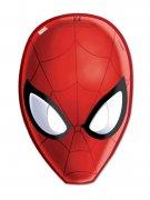 6 Spiderman masker rød 15,5 x 23 cm.