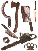 Væg klistermærke blodige våben 75 x 70 cm