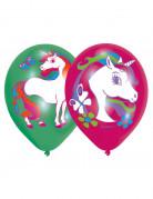 Balloner 6 stk. med unicorns 2 farver