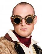 Briller cyberpunk forgyldte til voksne Steampunk