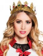 Krone dronning med falske ædelsten til voksne
