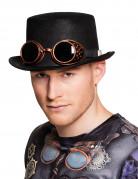 Hat med briller til voksne steampunk