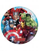 8 Små paptallerkener Mighty Avengers™ 20 cm