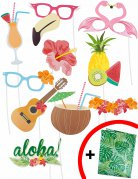 Kit photobooth Hawaii 10 stk