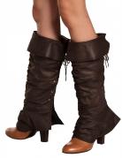 Overtræksstøvler brune til kvinder