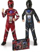 Kostumepakke Power Rangers rød og sort til børn i kasse