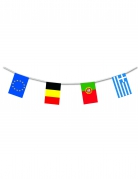 Europa guirlande med flag