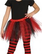 Tylskørt i sort og rød til piger