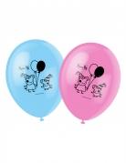 6 Balloner trykt med Gurli Gris