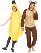 Par kostume banan og abe til voksne