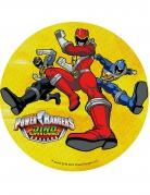 Gul kagedekoration - Power Rangers™ 21 cm