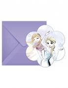 Elsa og Anna invitationskort med konvolutter - Frost™