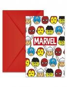 Avengers™ invitationer med konvolutter