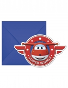 Super Wings™ invitationer med konvolutter